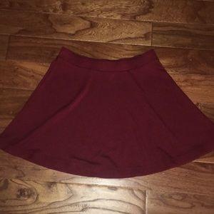 Maroon Forever 21 skirt